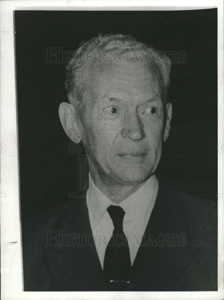 1969 Press Photo Maurice Couve de Murville diplomat - Historic Images