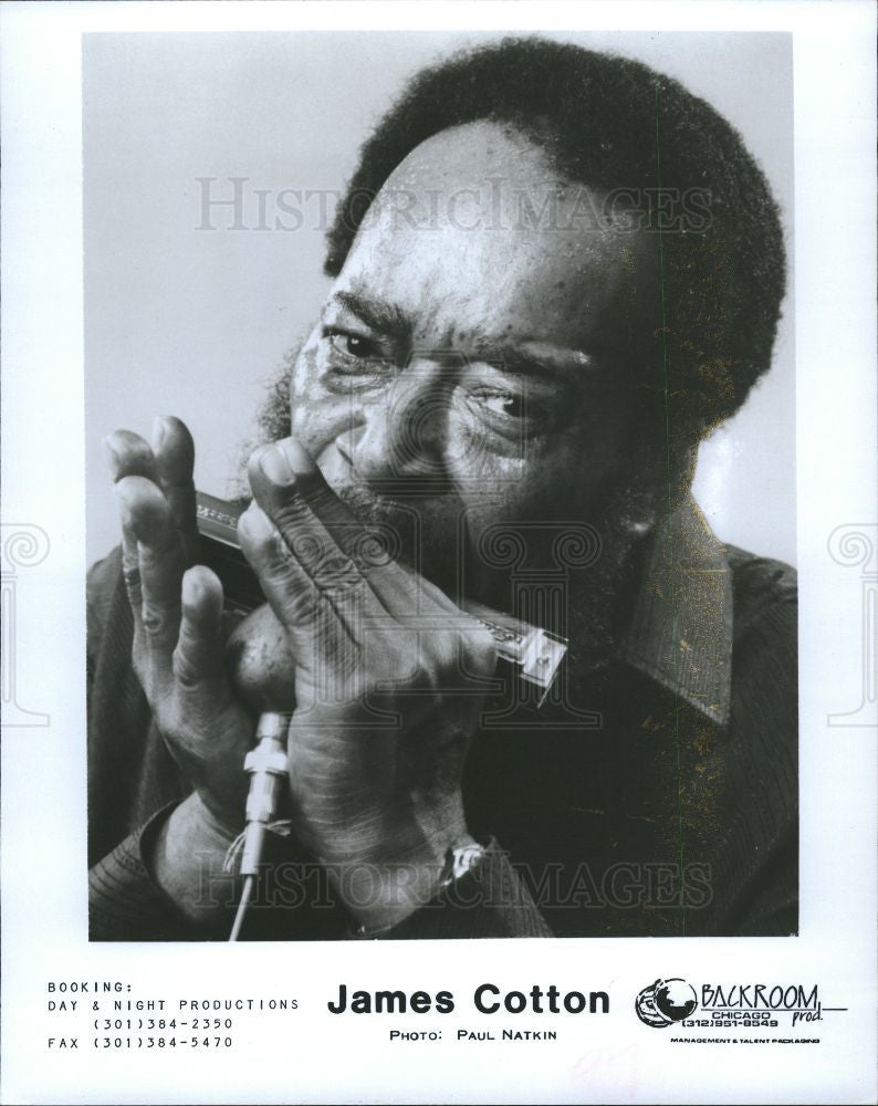 1990 Press Photo JAMES COTTON MUSICIAN - Historic Images
