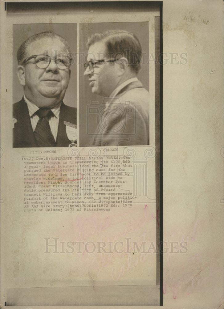 Press Photo Charles W. Colson Lawyer - Historic Images
