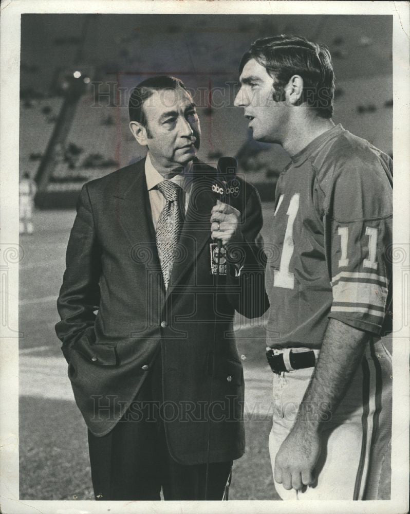 1974 Press Photo Howard Cosell American journalist - Historic Images