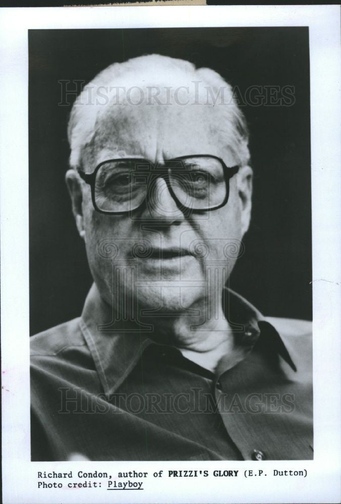 1990 Press Photo Richard Condon New Book Emperor Americ - Historic Images