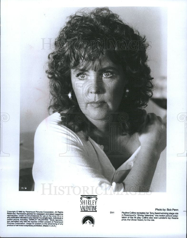 1989 Press Photo Theater Play Shirley Valentine Collins - Historic Images