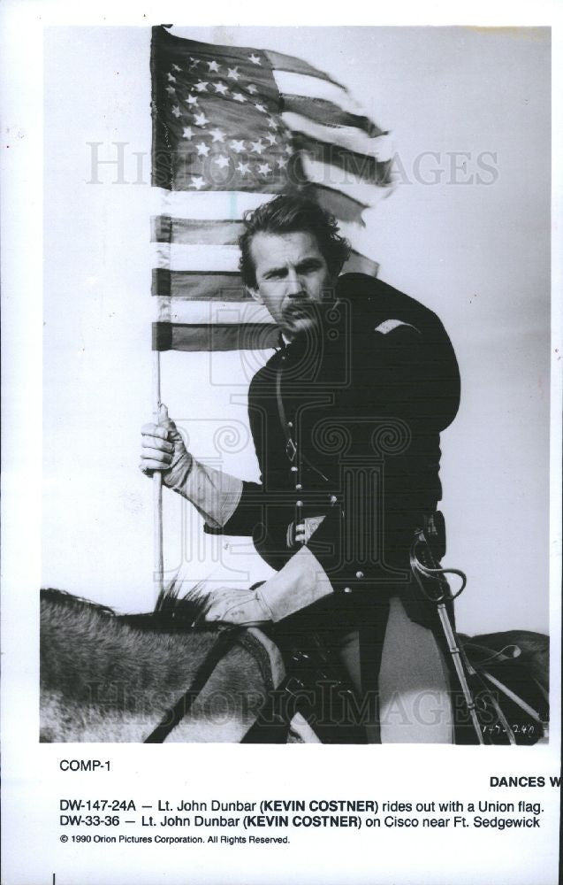 1990 Press Photo Kevin Costner Actor - Historic Images