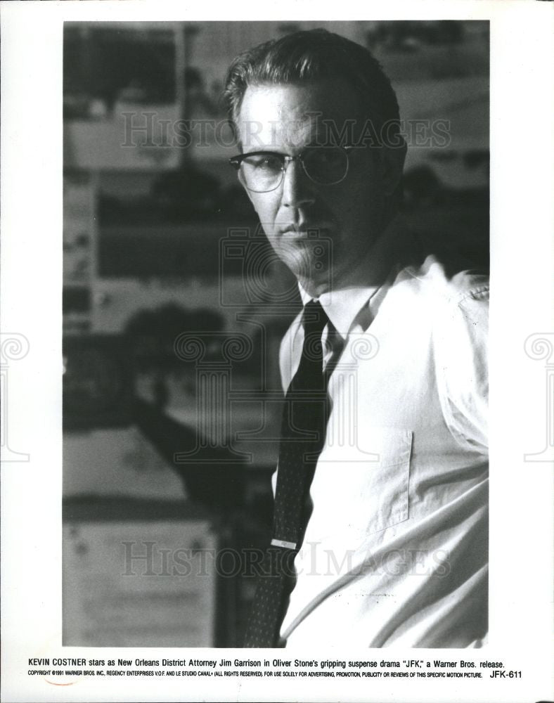 1992 Press Photo JFK film conspiracy New Orleans - Historic Images