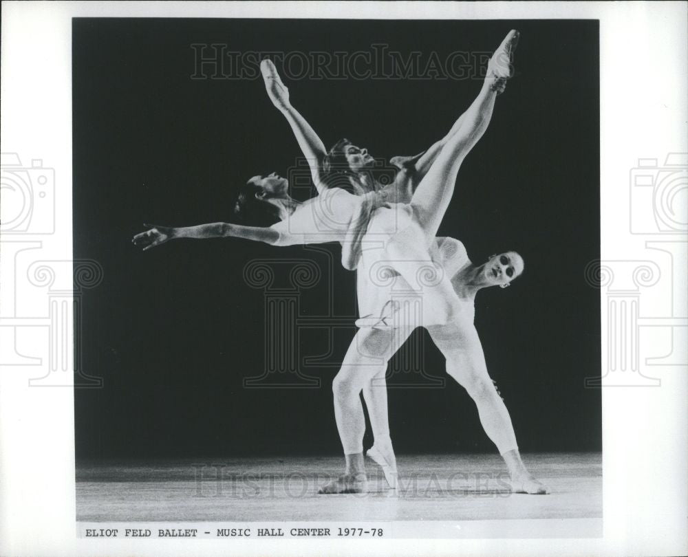 1981 Press Photo Eliot Feld Ballet  Music Hall Center - Historic Images