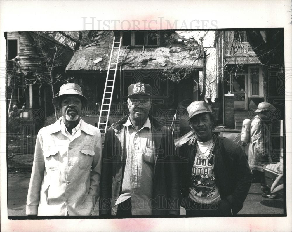 1988 Press Photo Percy Fleming Walter Saxton Joe Woods - Historic Images