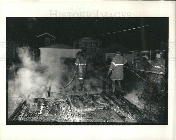 1985 Press Photo Fire 1985 devil's night fires - Historic Images