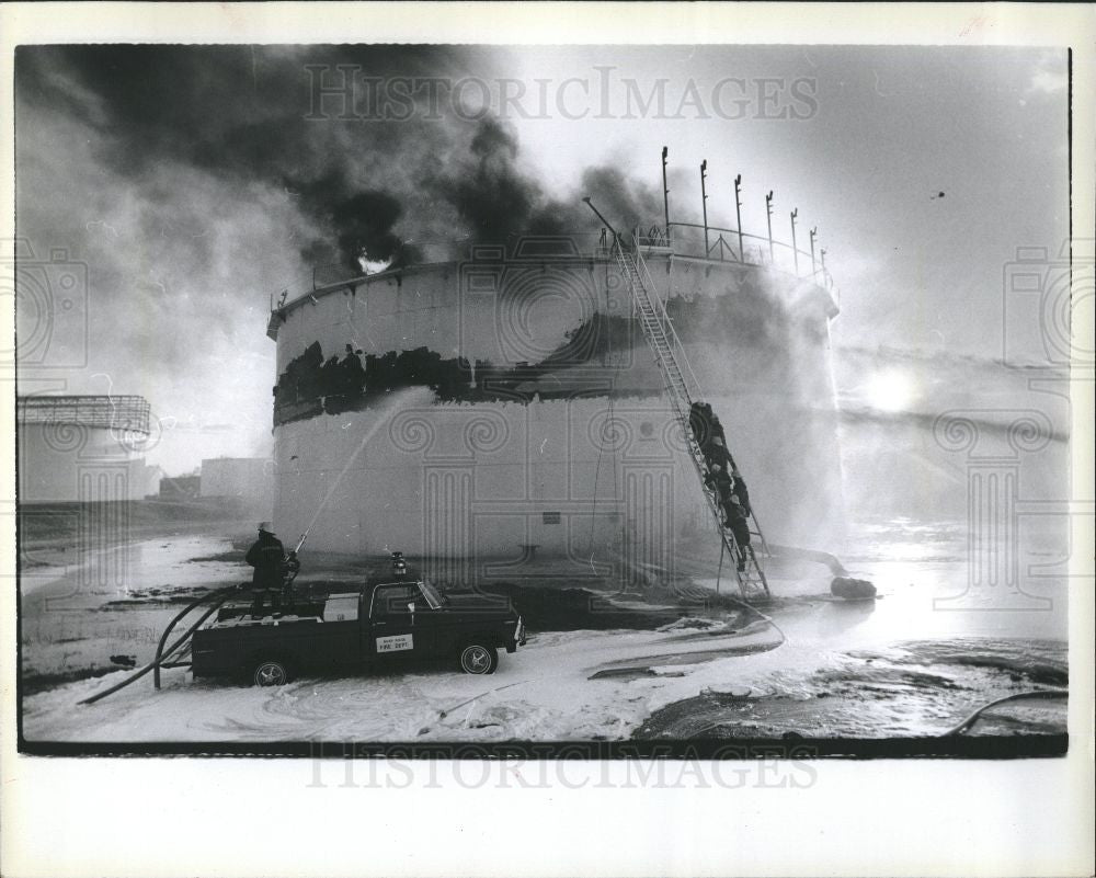 1980 Press Photo Fire Accident - Historic Images