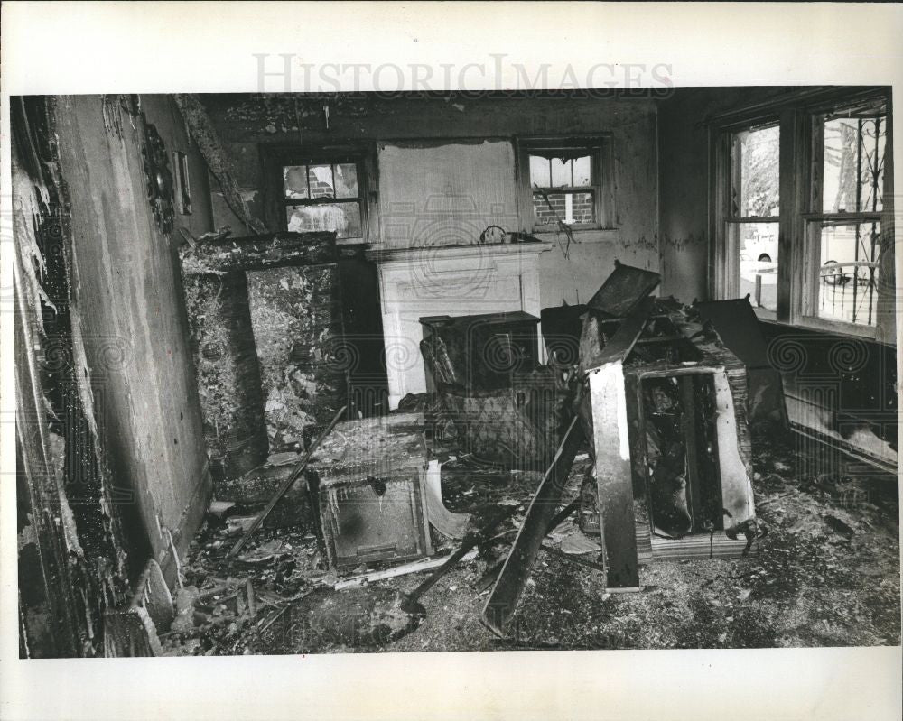 1977 Press Photo Mother Son Brothers Die Fire - Historic Images
