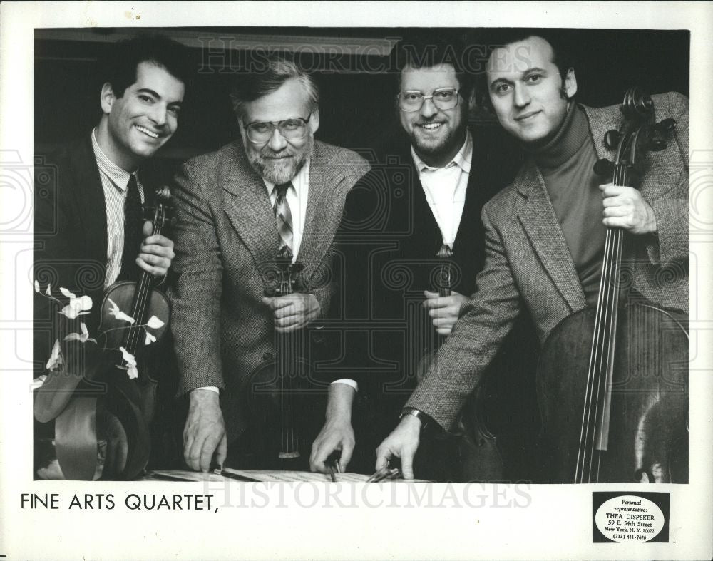 1989 Press Photo Fine Arts Quartet music - Historic Images