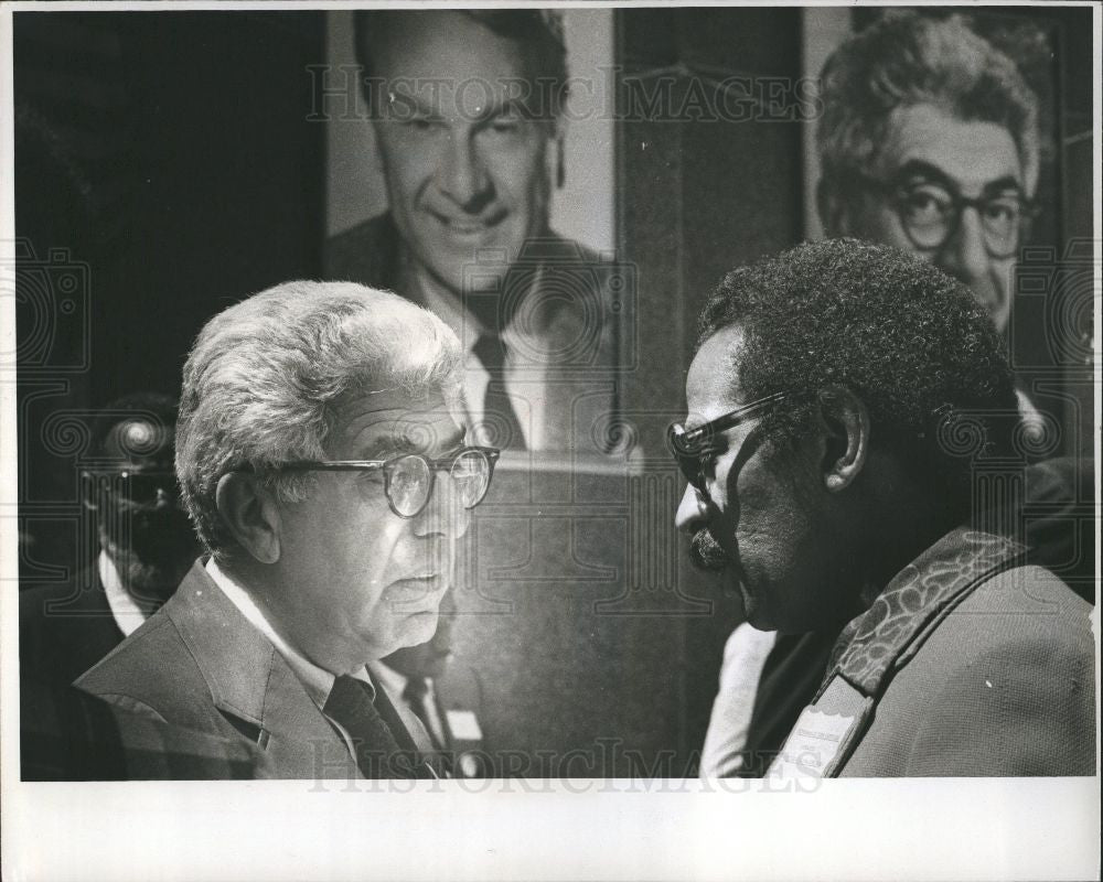 1978 Press Photo Barry Commoner, John Conyers - Historic Images
