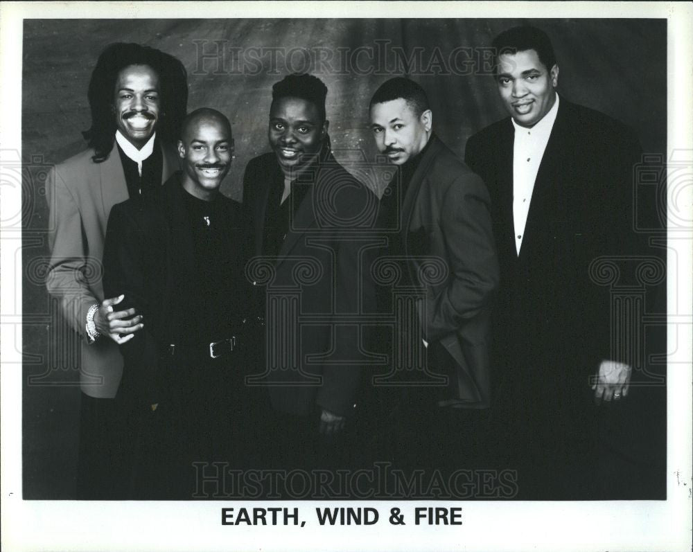 1995 Press Photo Earth Wind Fire Verdine Maurice White - Historic Images