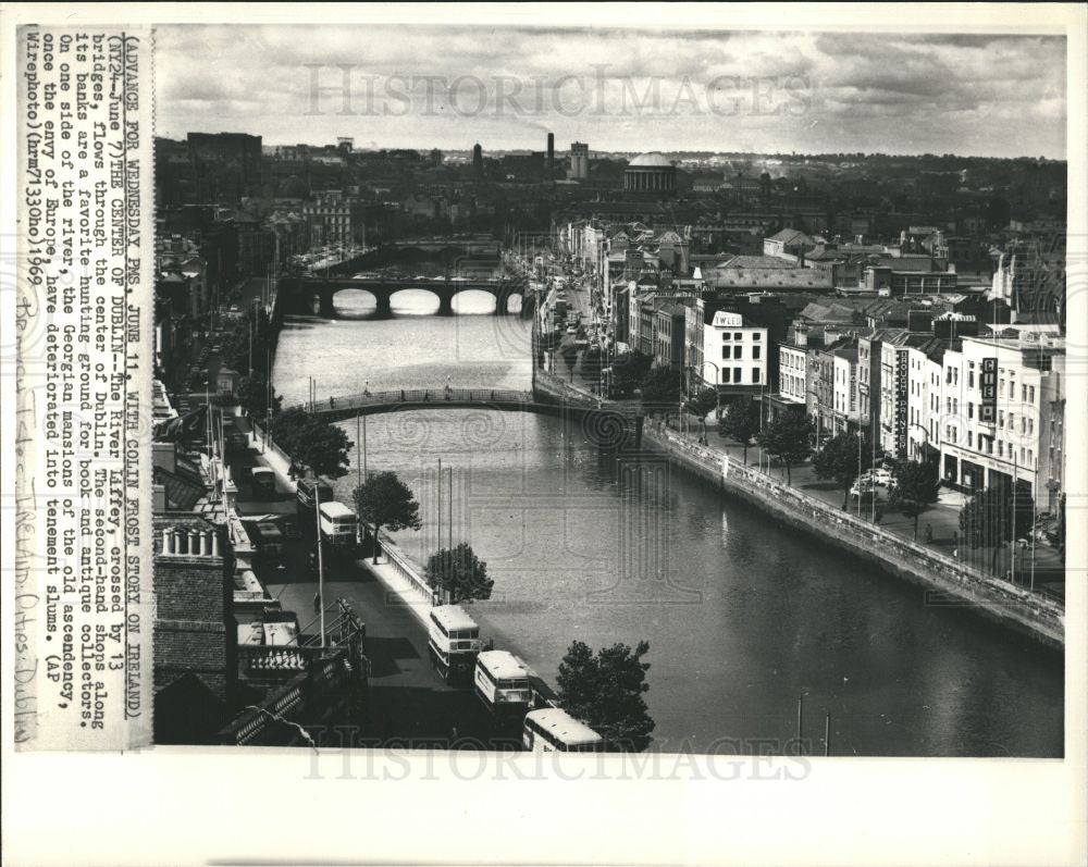 1988 Press Photo The River Liffey,center of Dublin - Historic Images
