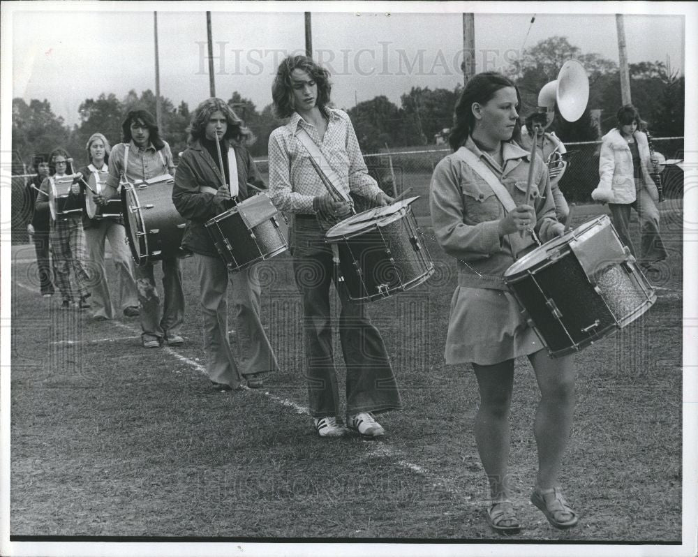 1976 Press Photo Sand Creek Band Music Students - Historic Images