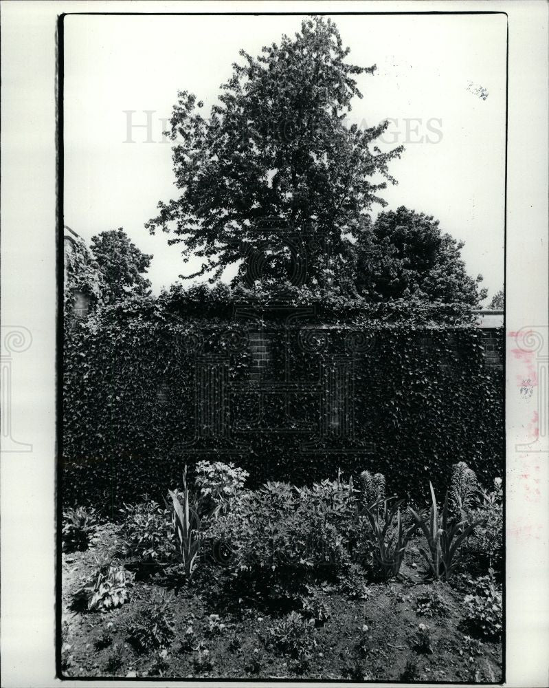 1983 Press Photo Rose Garden Gardening Plants Planting - Historic Images