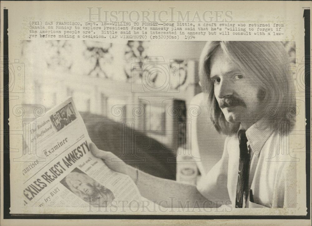 Press Photo Doug Bittle, Amnesty, President Ford - Historic Images
