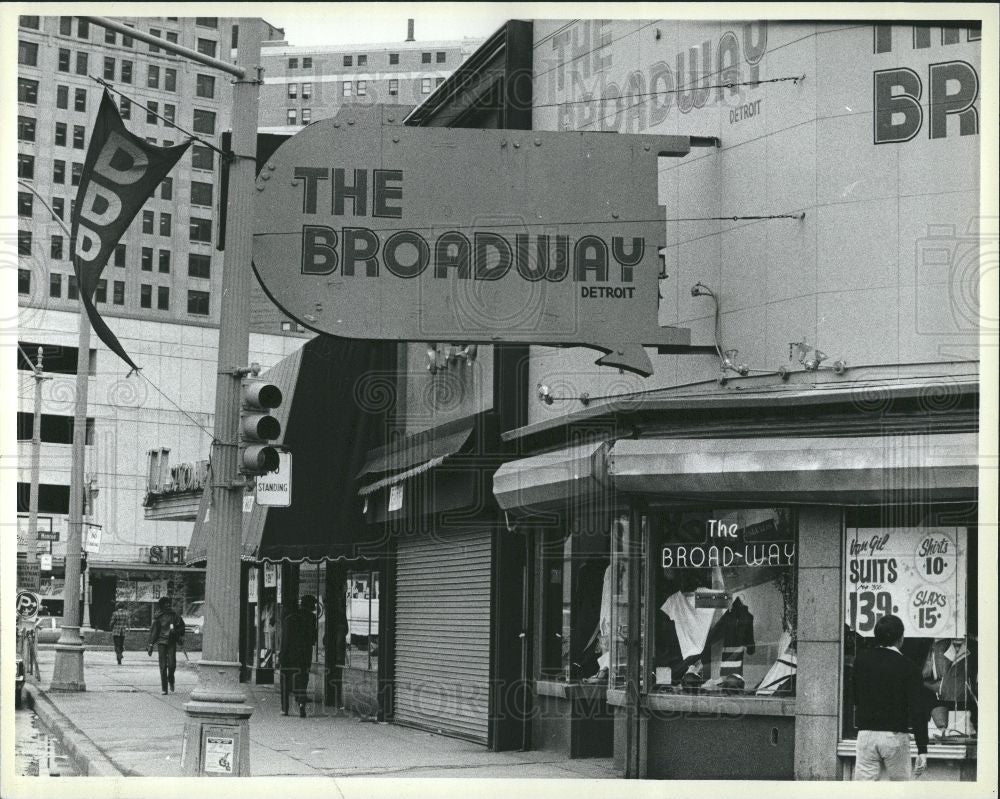 1984 Press Photo Downtown Detroit Days, the broad-way - Historic Images