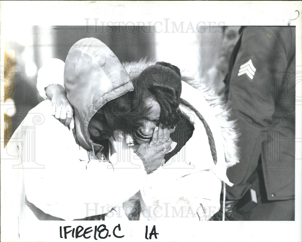 1993 Press Photo fire children died - Historic Images