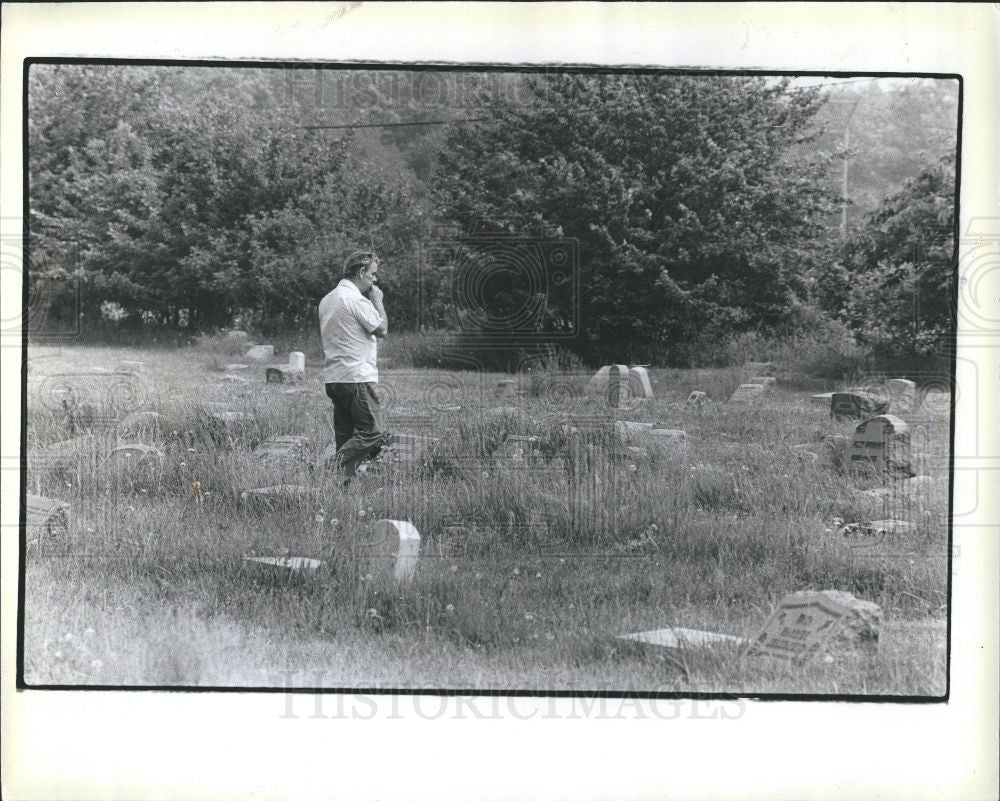 1978 Press Photo Ferndale Cemetery Riverview Sibley - Historic Images
