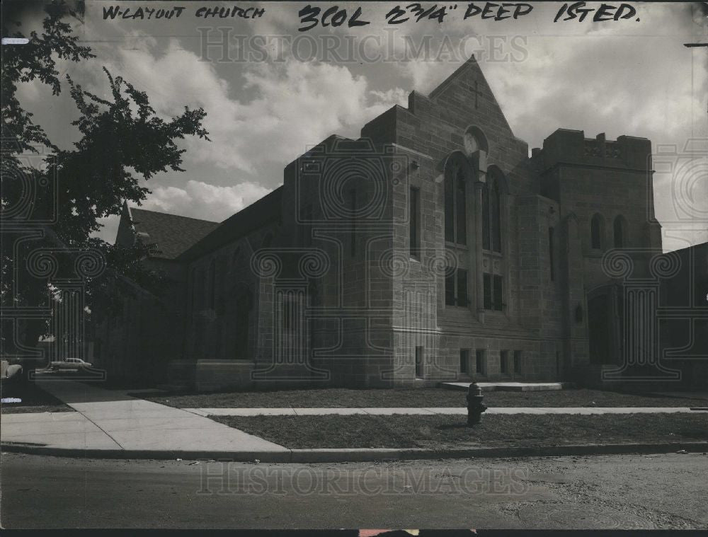 1951 Press Photo First Methodist Church Ferndale - Historic Images