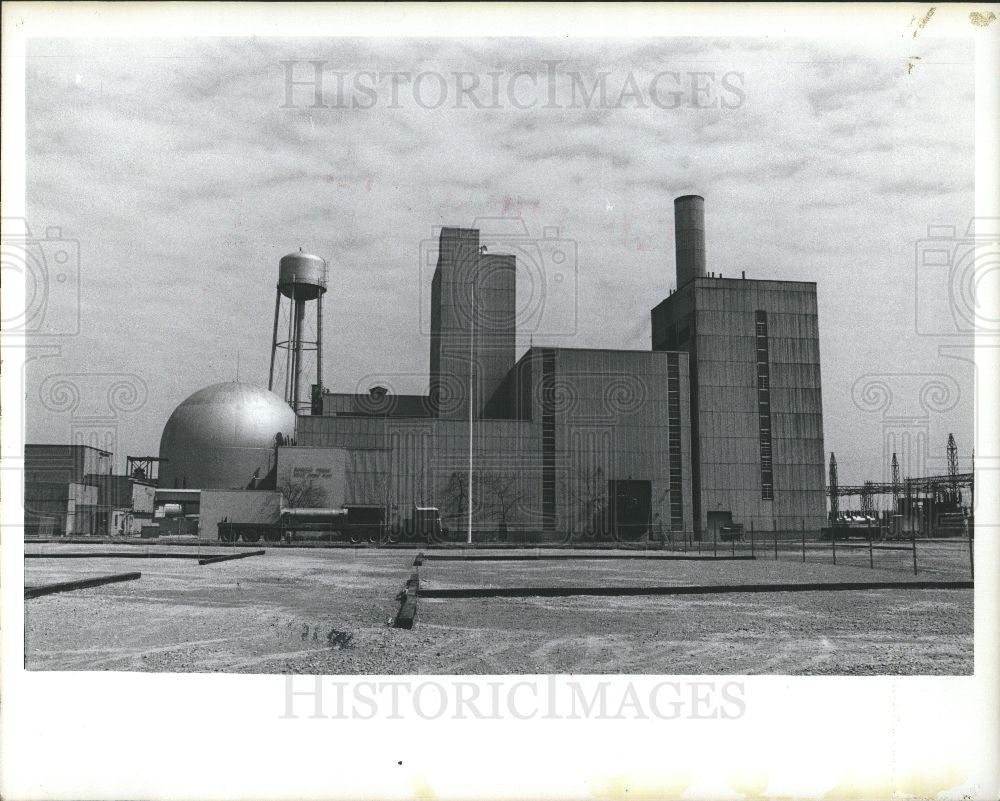 1975 Press Photo Fermi Nuclear Station Frenchtown - Historic Images