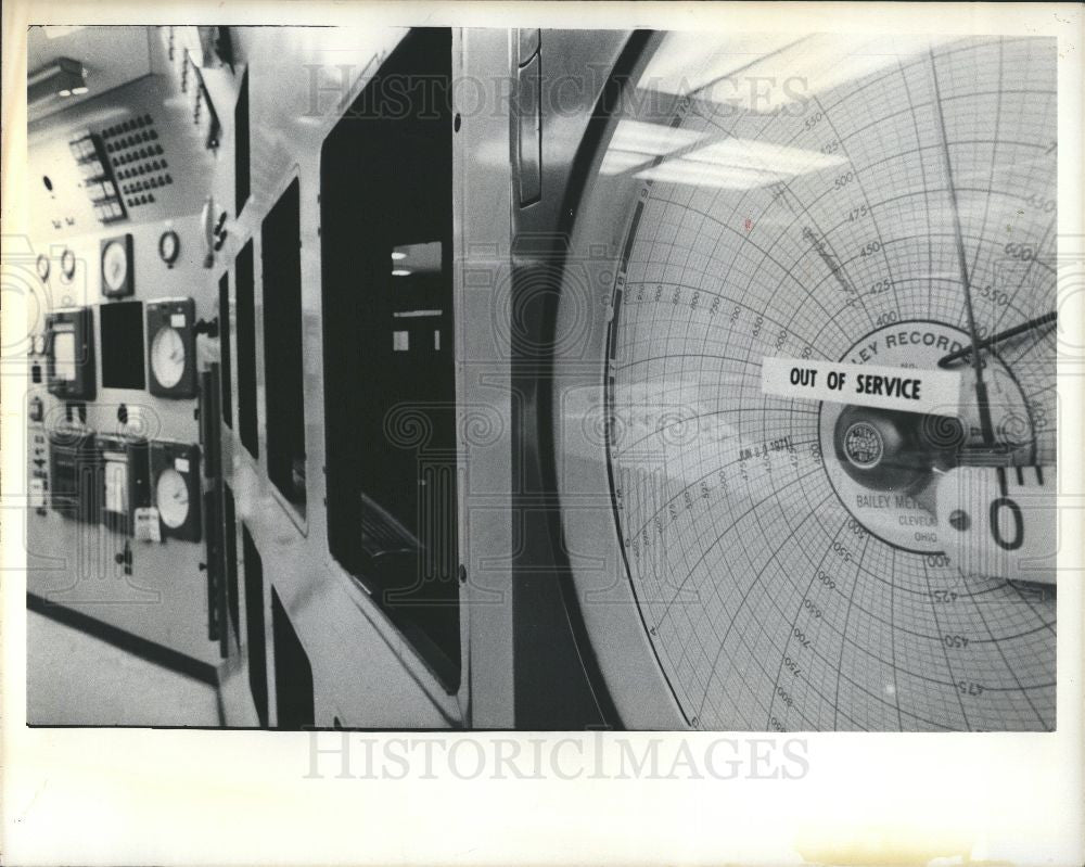 1975 Press Photo Fermi Nuclear Station Control Room - Historic Images