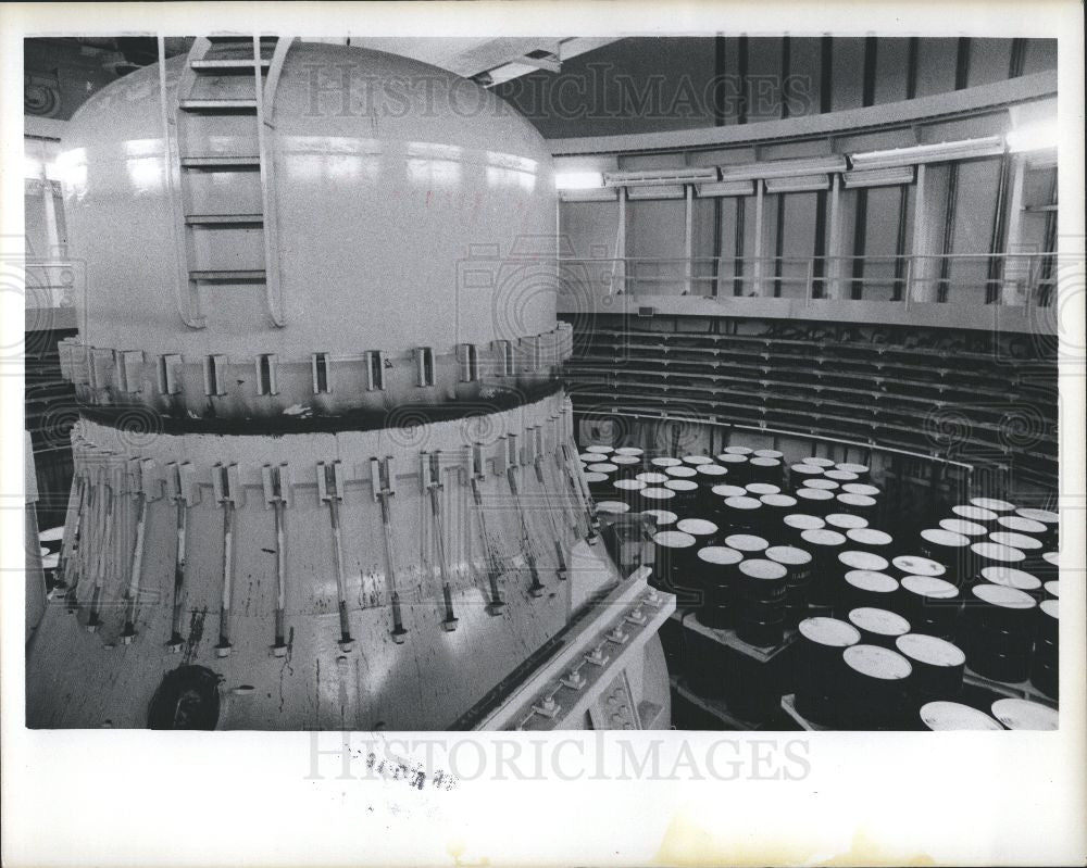 1975 Press Photo Fermi I  nuclear reactor - Historic Images