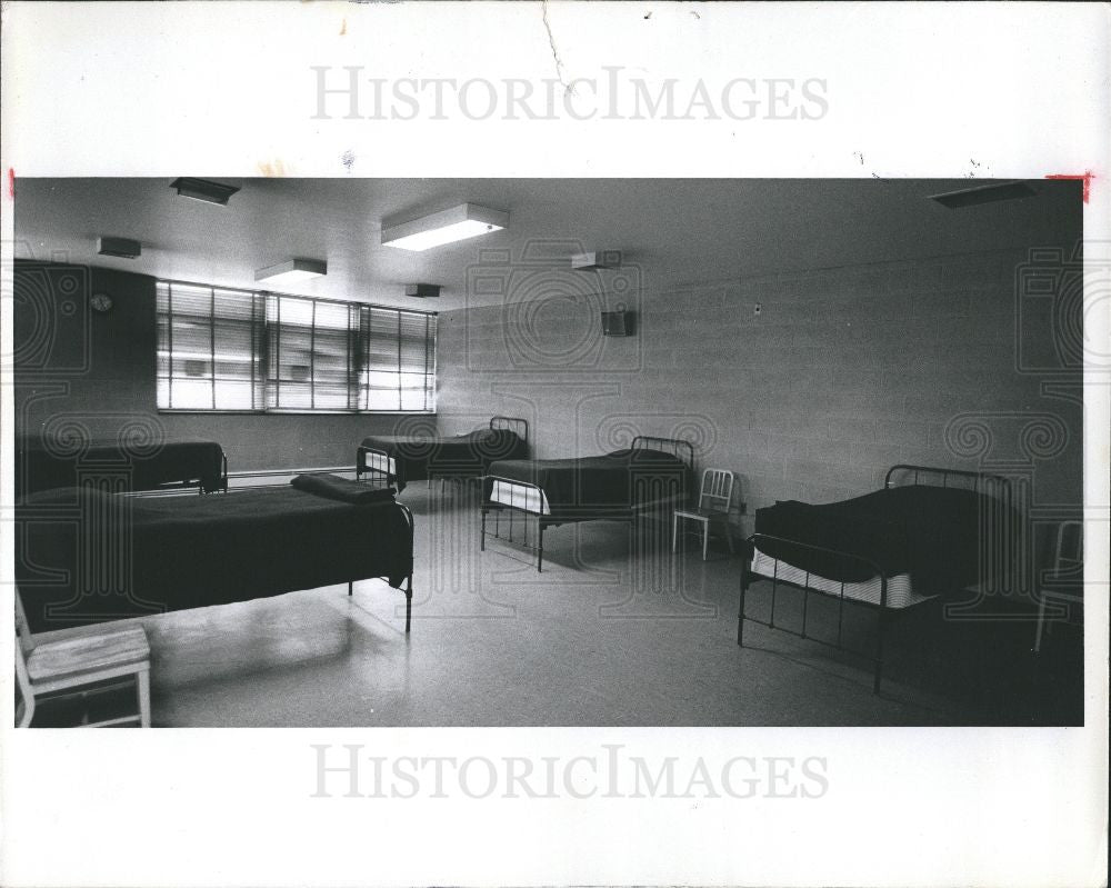 1977 Press Photo Fire Station - Historic Images