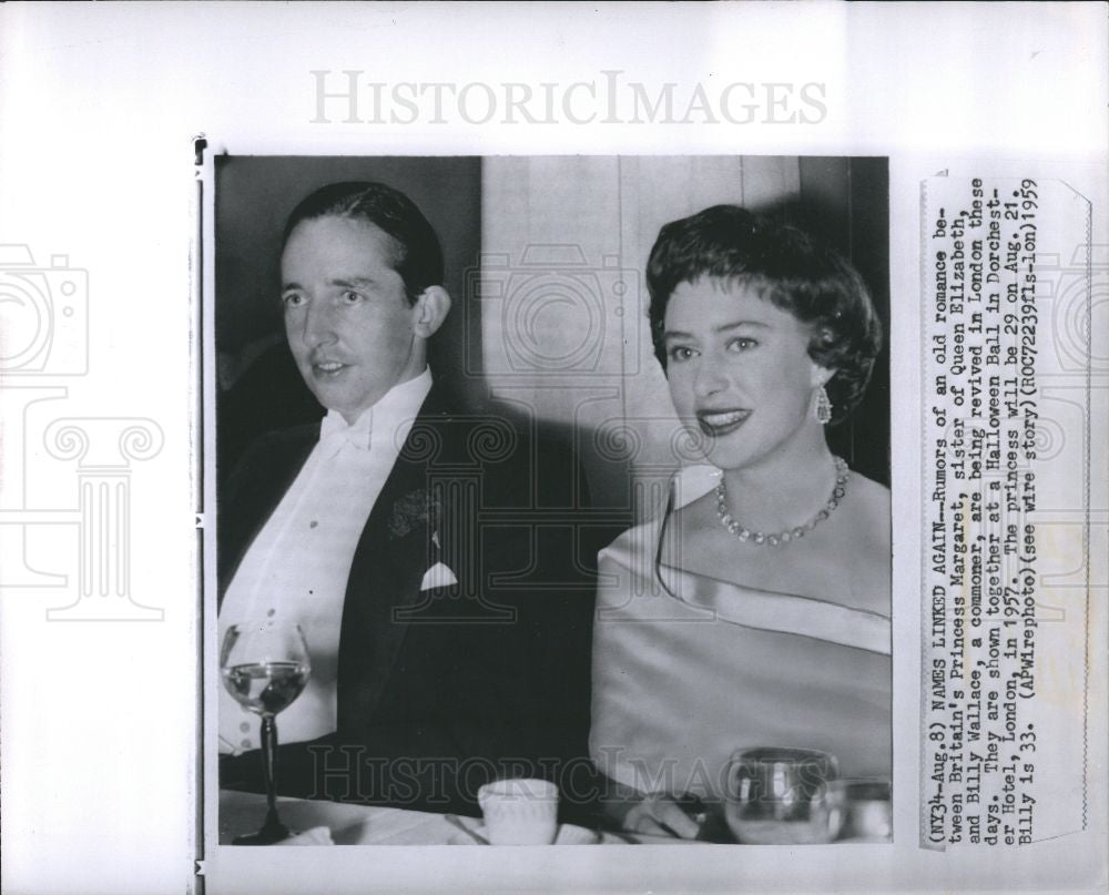 1959 Press Photo Princess Margaret & Billy Wallance - Historic Images