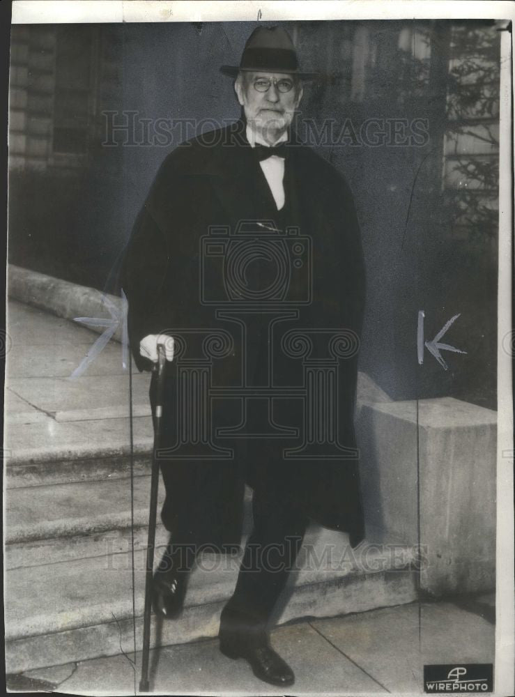 1937 Press Photo SupremeCourt Justice George Sutherland - Historic Images
