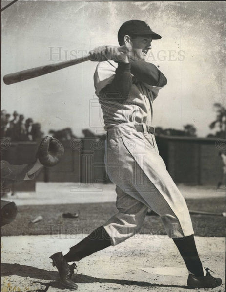 1940 Press Photo Detroit Tigers Billy Sullivan Catcher - Historic Images