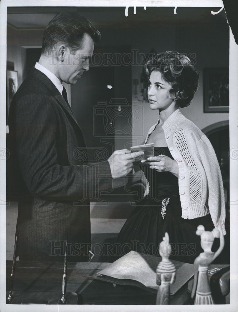 1960 Press Photo Skip Homeier Gogi Grant Tv Dan Raven Historic Images