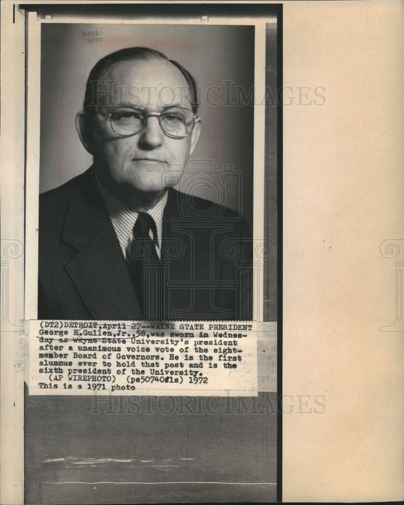 1972 Press Photo George E. Gullen - Historic Images