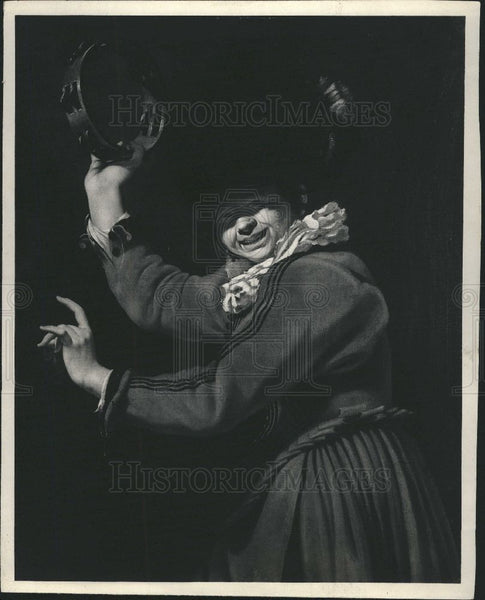 1926 Press Photo The Tambourine Player By Franz Hale - Historic Images