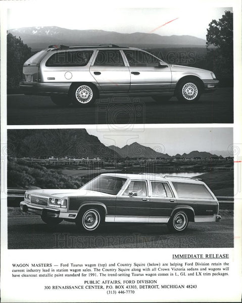 1991 Press Photo Ford Taurus wagon - Historic Images