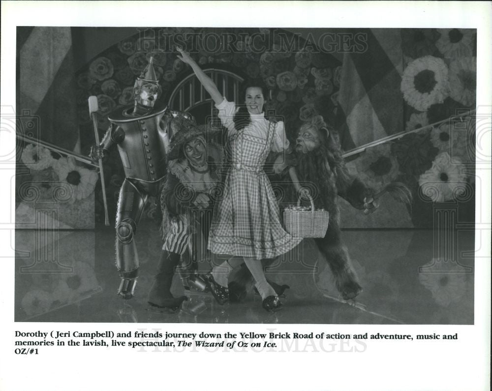 1995 Press Photo Jeri Campbell The Wizard of Oz on Ice - Historic Images