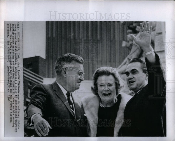 1970 Press Photo George C. Wallace Curtic E. LeMay - Historic Images