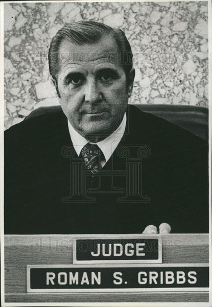 Press Photo Roman Stanley Gribbs Judge Michigan - Historic Images