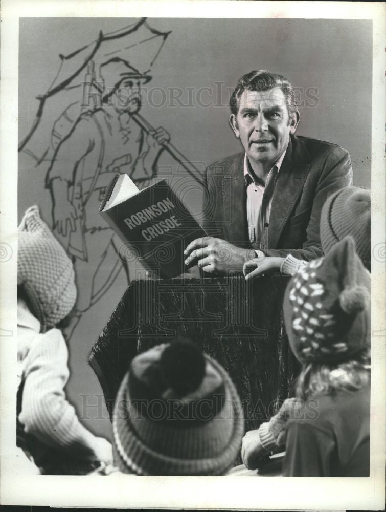 1977 Press Photo Actor, comedian, Andy Griffith - Historic Images