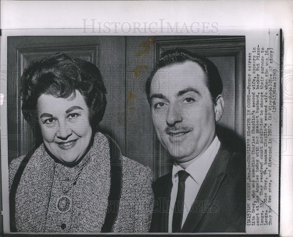 1963 Press Photo Lita Grey Chaplin ex-wife court - Historic Images