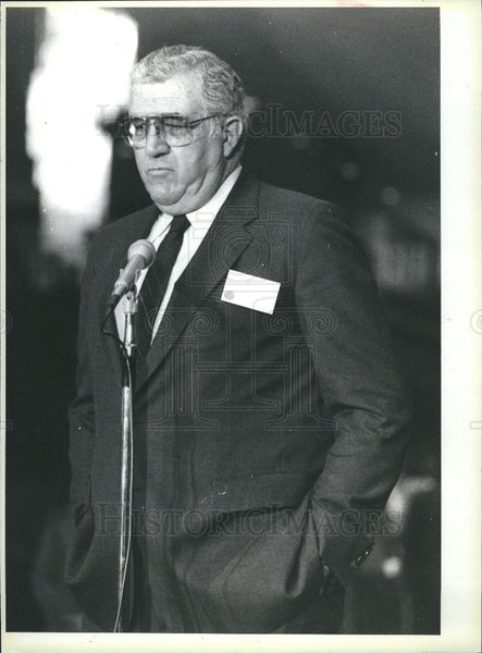 1985 Press Photo Peterson Bieber Praising government - Historic Images