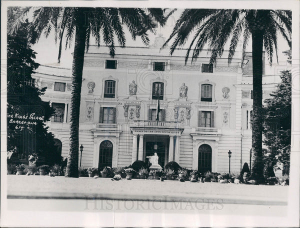 1937 of the King's Palace in Barcelona - Historic Images