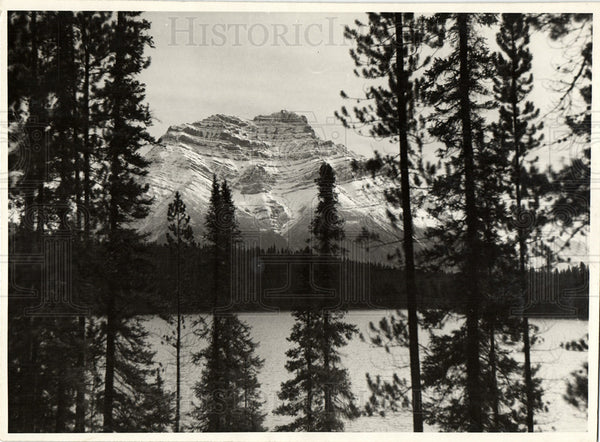1933 Mount Kerkeslin Jasper National Park - Historic Images