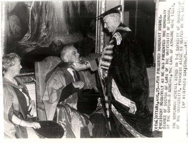 1943 FDR Canada visit honorary degree - Historic Images