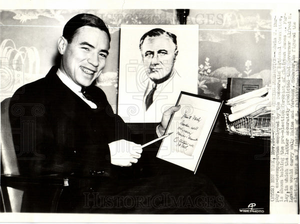 1936 Edwin W. Murphy Democratic Party Elect - Historic Images