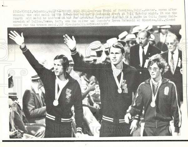 1971 Press Photo Frank Heckl Pan American Games - Historic Images