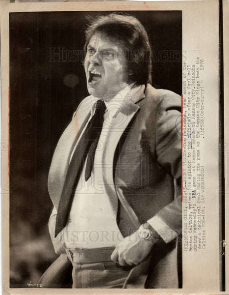 1976 Press Photo NBA game at Kemper Arena - Historic Images