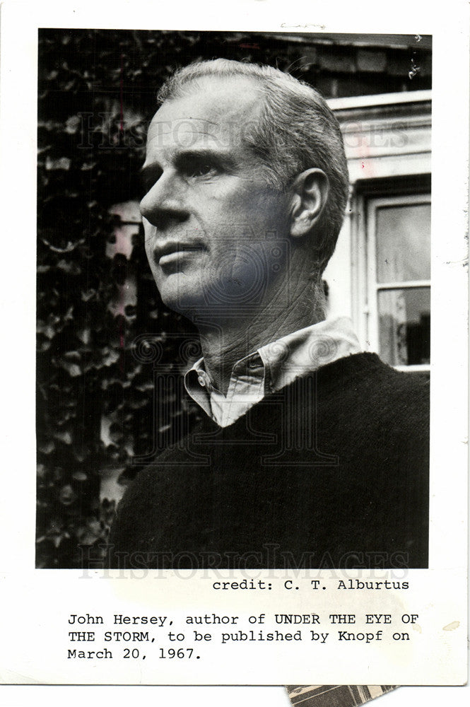1993 Press Photo John Hersey  American writer - Historic Images