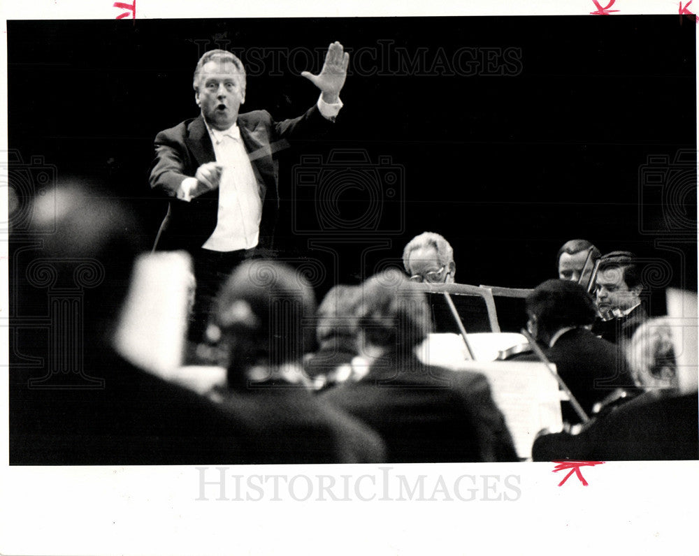 1984 Press Photo G?nther Herbig direct detroit symphony - Historic Images