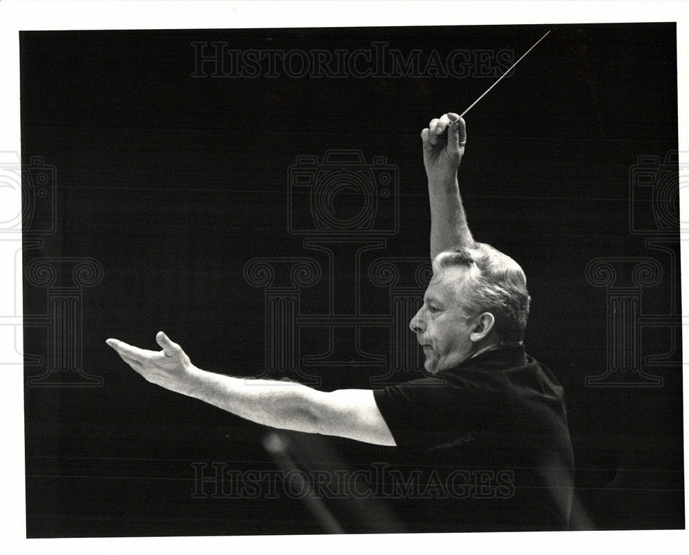 Press Photo G?nther Herbig German Conductor DSO - Historic Images